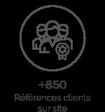 850 références clients sur site